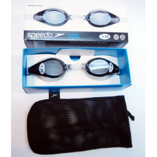 Speedo 成人度數泳鏡 黑灰SD8008513081N