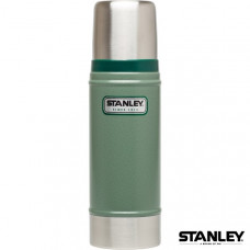 Stanley 經典真空保溫瓶 0.47L-錘紋綠 1001228-027