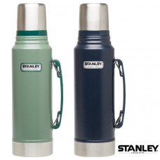 Stanley 經典真空保溫瓶 1L-錘紋綠/藍 1001254