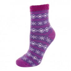 YAKTRAX 厚絨刷毛保暖襪 丁香紫 YA105-095