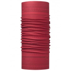 Buff 西班牙 Coolmax 95%防曬抗UV頭巾 波圖紅紋 BF113625-425