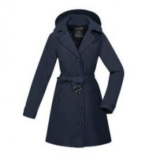 ATUNAS 歐都納 女 都會時尚G/T+羽絨2in1長版大衣-藍黑 A-G1825W-DN