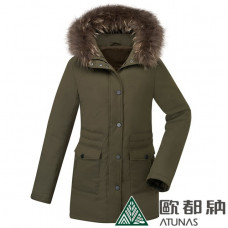 ATUNAS 歐都納 女 羽絨大衣-軍綠 A-G1831W-DG