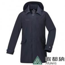 ATUNAS 歐都納 男 都會時尚G.T.+羽絨二件式長大衣-碳黑 A-G1840M-BK