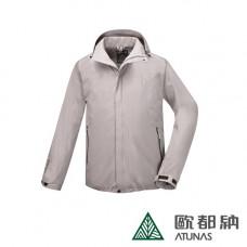 Atunas 歐都納 防水 防風 透氣 男GORE-TEX 羽絨樂遊休旅二件式外套 卡其 A-G1621M-KA