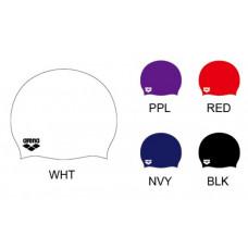 Arena 矽膠泳帽(左下logo)-深藍/白 ACG210