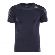 Craft短袖圓領排汗衣(男)-灰藍 1905844-9475