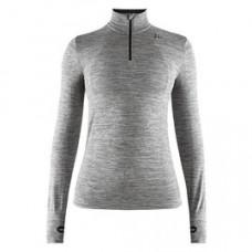 Craft 瑞典 全天候長袖拉鍊立領排汗衣(女)-黑灰 1906594-B750