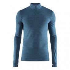 Craft 瑞典 全天候長袖拉鍊立領排汗衣(男)-藍綠 1906602-B772