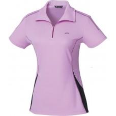 Easymain 衣力美 女 排汗短袖休閒衫-淺紫/豆沙紫 DE00082