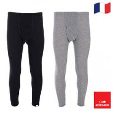 Eider 男 排汗機能型保暖長褲(開檔.盒裝) 黑/淺灰 EIT1693