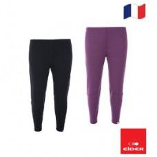 Eider 女 排汗機能型保暖長褲(盒裝)-黑/紫 EIT2695