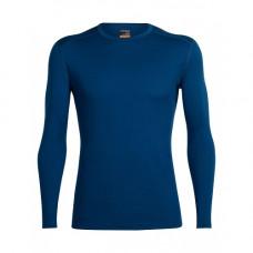 Icebreaker 頂極美麗諾羊毛 男 經典圓領素面長袖衣(BF200)Θ-靛藍 IB100476-418