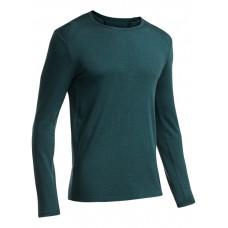 Icebreaker 頂極美麗諾羊毛 男圓領配色保暖長袖衣(BF260)-海藻藍 IB100483-404