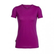 Icebreaker 頂極美麗諾羊毛 涼爽羊毛 女 Tech素色圓領短袖衣(JN150)-艷紫 IB102140-504