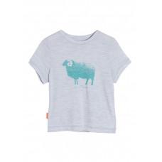 Icebreaker 頂極美麗諾羊毛 Tech兒童美麗諾羊短袖上衣 暴風灰  IB103150-001