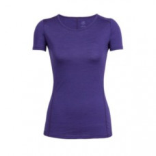Icebreaker 頂極美麗諾羊毛 涼爽羊毛 女 Aero圓領素色短袖衣(GT120)-深藍紫 IB103792-501