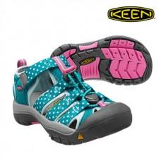 Keen Newport H2 兒童寬帶涼鞋-湖水綠/印花 1012290