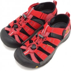 Keen Newport H2 兒童寬帶涼鞋-紅/黑 1012318