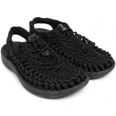 Keen Uneek 女 彈性編織涼鞋-黑 1014099
