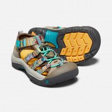 Keen Newport H2 兒童寬帶涼鞋-咖啡/印花 1018258