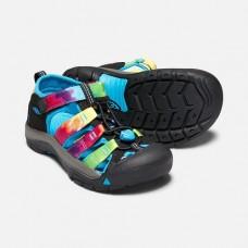 Keen Newport H2 兒童寬帶涼鞋-黑/彩色 1018441