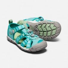 Keen SeacampII CNX 兒童包趾涼鞋-湖水綠/印花 1019268