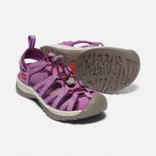 Keen Whisper 女細帶涼鞋-紫/灰 1018229