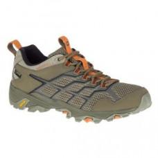 Merrell Moab FST2 女 GT低筒健行鞋-淺橄綠/橘 ML77432