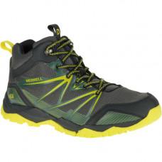 Merrell Capra Rise 男中筒Waterproof健行鞋-灰/綠 ML35729