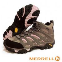 Merrell MOAB 女GT中筒鞋-灰棕/粉 ML65310