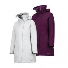 Marmot W-West Side Comp 兩件式防水透氣保暖大衣 灰白/深紫 45460