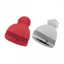 Marmot W-Charlene 保暖毛帽(球) 灰/紅 14140