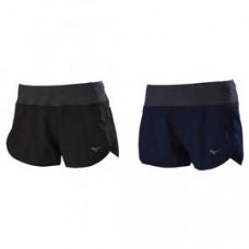 MIZUNO 美津濃 女路跑褲(內裡褲.股下5cm) 黑/深藍 J2TB8260