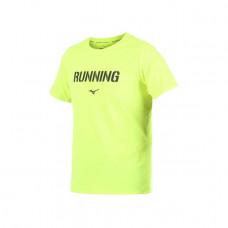 MIZUNO 美津濃 男路跑短袖T恤(Running)-螢光黃綠 J2TA800644