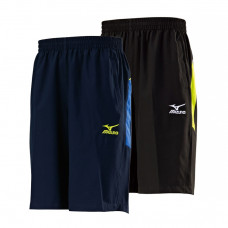 MIZUNO 美津濃 平織短褲(膝上) 黑/藍 32TB7552