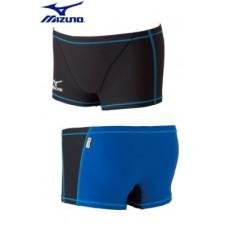 MIZUNO 美津濃 Exer Suits 短四角泳褲 前黑/後藍 85RP-30091