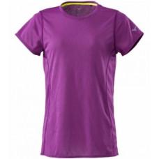 MIZUNO 美津濃 女路跑短袖T恤-紫 J2MA821567