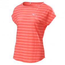 MIZUNO 美津濃 女瑜珈短袖T恤-粉橘色 K2TA8A0566
