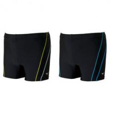 MIZUNO 美津濃 Fitness 五分泳褲 N2JB661191 黑/黃線  N2JB661192 黑/藍線