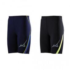 MIZUNO 美津濃 緊身褲(短) 黑/螢光綠 及 丈青/藍 U2TB7G0509/U2TB7G0514
