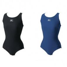 MIZUNO 美津濃 BASIC工字背基本款女泳衣- 85EE-30009黑 85EE-30014 丈青