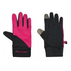 Mountneer 山林 中性抗UV觸控手套-桃紅/灰 11G01-33