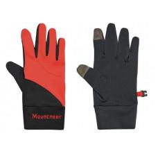 Mountneer 山林 中性抗UV觸控手套-橘紅/灰 11G01-42
