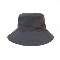 Mountneer 山林 中性透氣抗UV雙面帽-深鐵灰/橘紅 11H02-12