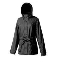 Mountneer 山林 女 防風保暖外套-黑/深紫 12J06