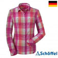 Schoffel 女 排汗透氣抗UV格子長袖襯衫 7SL20-11712-3