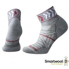 Smart Wool 美國 女 PhD戶外輕量減震印花低筒襪 中性灰 SW000765-052
