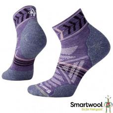 Smart Wool 美國 女 PhD戶外輕量減震印花低筒襪 薰衣草紫 SW000765-511