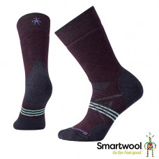 Smart Wool 美國 女 PhD 戶外中級減震中長襪 葡萄紫 SW001064-590
